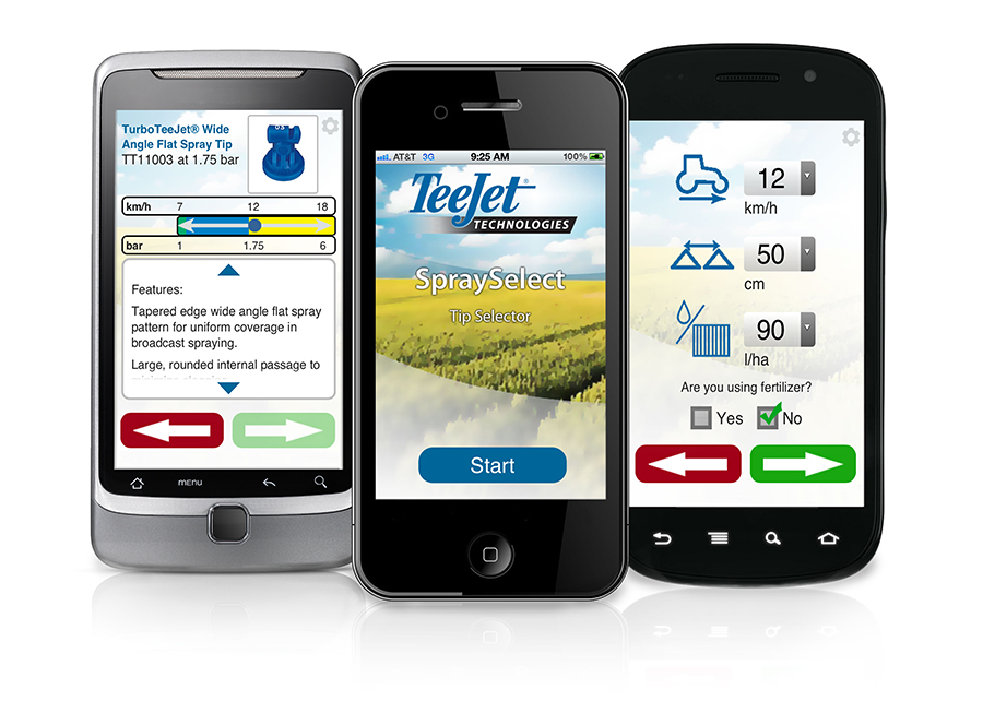 Teejet Sprayselect Mobile App